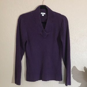 Purple Knit Sweater